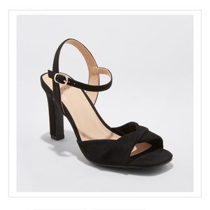 Twist Front Heeled Pumps - a New Day Black 8.5